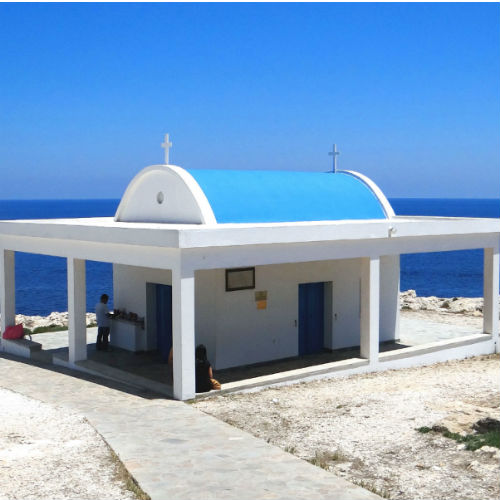 Ayioi Anargyroi Chapel with Stunning Seaside Views